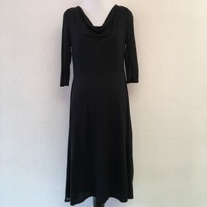 Eileen Fisher Cowl Neck 3/4 Sleeve Dress Size XS
